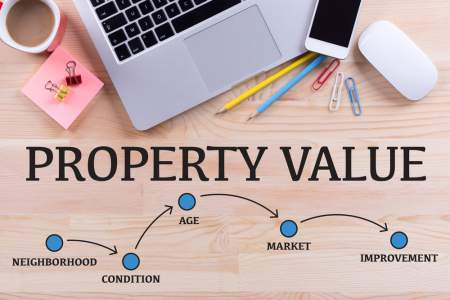 property value concept with keyboard