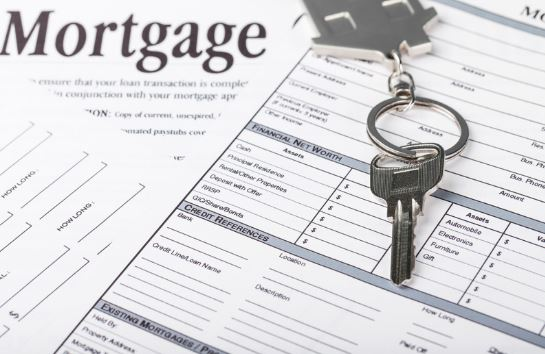 Mortgage Loan Papers and House Key