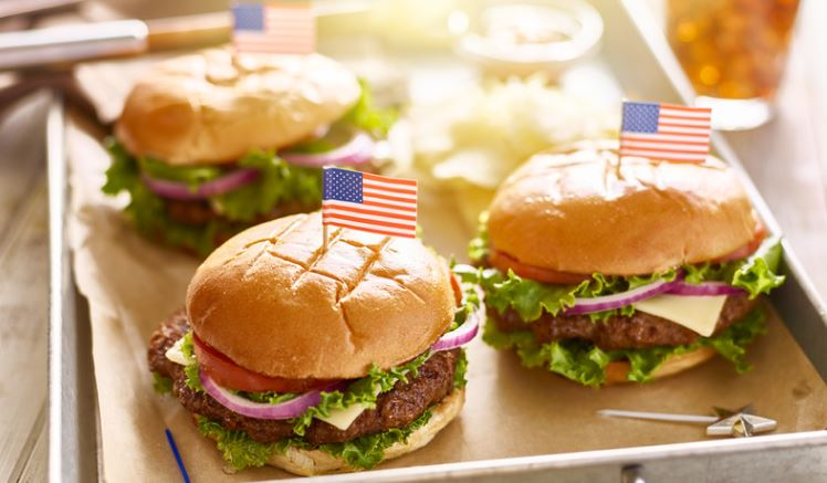 4th of July cookout burgers