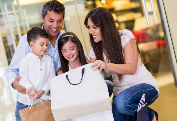 Family back to school shopping