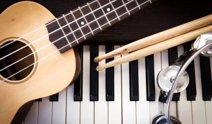 Sarasota county back to school event at music compound - Guitar, Piano Keyboard, drumsticks