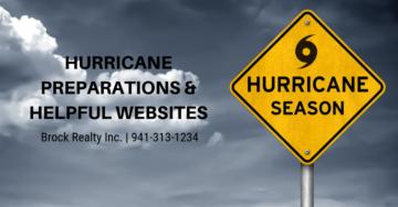 Hurricane preparations and helpful websites