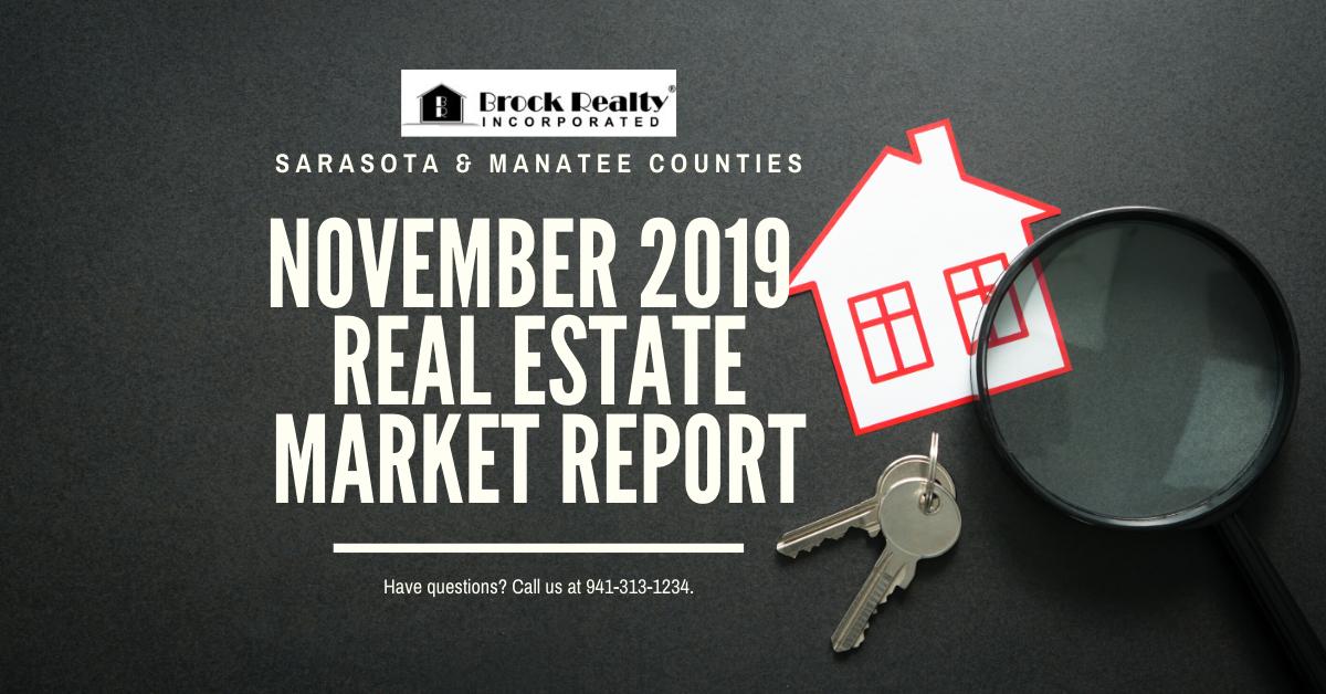 Sarasota & Manatee Counties Real Estate Market Report - November 2019