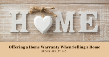 Offering a Home Warranty - Brock Realty