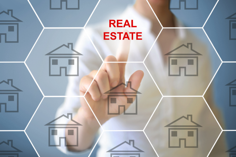 real estate market report concept honeycomb